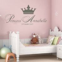 Personalised Princess Girls  ~ Wall sticker / decals